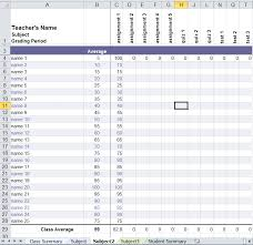 Grade Book Template Excel Amazing Excel Gradebook Template Amazing Excel