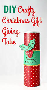 upcycled diy christmas gift giving tube my teen guide