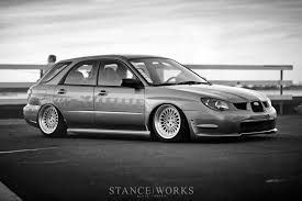 white subaru wagon going wider john hall u0027s widebody 2006 wrx wagon stanceworks