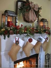 Tall Christmas Mantel Decorations by Farmhouse Christmas Mantel Holiday Inspiration Christmas