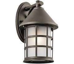 Kichler Lighting Outdoor Kichler 49619oz Town Light 1 Light Olde Bronze Outdoor Wall Sconce