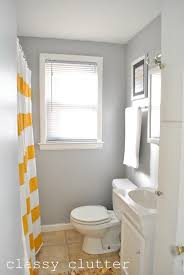 Yellow And Grey Bathroom Ideas Clean And Simple Yellow Bathroom Redo Clutter