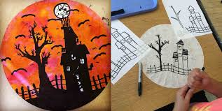 halloween silhouette art projects for kids