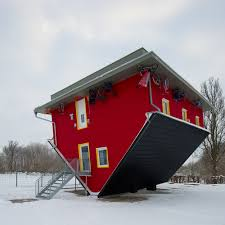 Weird House by Upside Down House In Rügen Mecklenburg Vorpommern Germany By