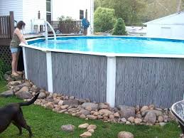 re landscaping around base of intex ultra frame pools potted