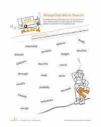 find the misspelled words spelling worksheets grade spelling