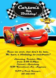 cars birthday party invitation stephenanuno com