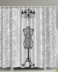 Marilyn Monroe Bathroom by Amazon Com Gray Shower Curtain Female Dress Form Mannequin Black