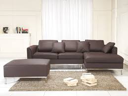 Modern Genuine Leather Sofa Leather Sofa L Genuine Leather Suite Brown Teseo
