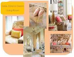 living room ideas cream and gold gold coral cream living room