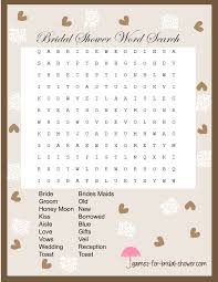 wedding words for bingo free printable word search for bridal shower