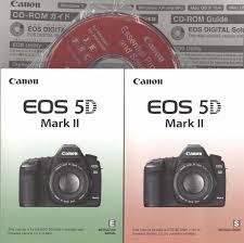 canon eos 5d mark ii original instruction manuals with pocket