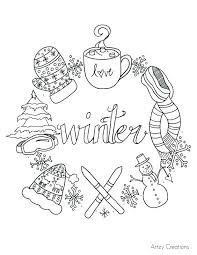 january coloring pages for kindergarten winter themed coloring pages sledding coloring pages free printable