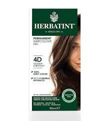 4d hair herbatint hair colour golden chestnut blonde range 4d 8d the