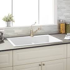 Porcelain Kitchen Sinks by Matte White Sink Signature Hardware