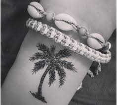 palm tree on wrist