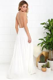 coast dress lovely ivory dress maxi dress backless maxi dress 74 00
