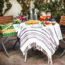 Outdoor Round Patio Table The Most Round Patio Tablecloths With Umbrella Hole Modern