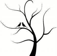 tree stencils tree with birds vinyl decal car decal bedroom