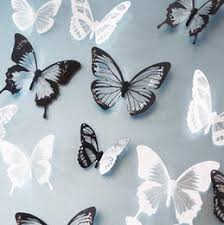 white 3d butterfly wall decor online white 3d butterfly wall