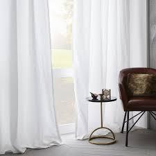 belgian flax linen curtain platinum west elm