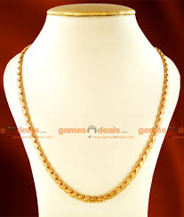 leaf chain necklace images Chrt15 one gm chidambaram gold plated jewellery traditional s jpg