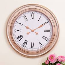 60s Clock Extra Large Copper Wall Clock By Dibor Notonthehighstreet Com