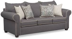 Sears Outlet Sofas by Carla Sofa Gray Value City Furniture