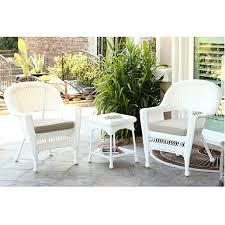 white wicker and tan 4 pc outdoor set kirklands
