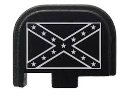 Confederate Flag Origin Confederate Flag Rear Slide Cover Plate For Glock 42 G42 380 By