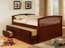 6 Drawer Bed Frame Country Bedroom With Cherry Trundle Storage Platform Bed