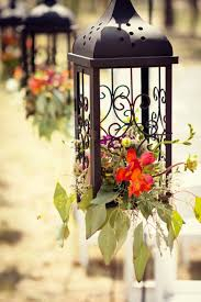hanging lantern aisle decor twigs u0026 posies colorado springs