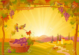 vector thanksgiving illustration beautiful autumn landscape on