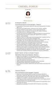 English Teacher Sample Resume by Kindergarten Teacher Sample Resume
