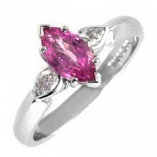 18ct white gold diamond amethyst 18ct white gold marquise pink sapphire u0026 pear diamond ring