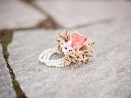 bridesmaid corsage flower corsage bracelets blush corsage pearl bracelet fleurs