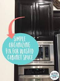 Kitchen Cabinet Organization Products Simple Organizing Fix For Wasted Cabinet Space Kitchen Cabinet