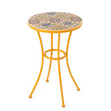 Ceramic Side Table Bungalow Chantel Outdoor Ceramic Tile Side Table Reviews