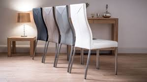 Dining Chairs Recommended White Leather Dining Room Chairs Real Property Alpha