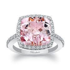 morganite engagement ring white gold barkev s 4 50ct cushion cut morganite engagement ring