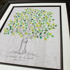 wedding sign in books guest book wedding tree poster thumbprint wedding tree fingerprint