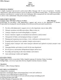 Office Manager Resume Sample by Office Manager Cv Example Icover Org Uk