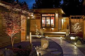 Exterior Led Landscape Lighting Led Landscape Lighting On Terraced Patio And Garden In The Small