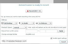 Screen Toaster How To Create Screencasts Easily With Screentoaster Make Tech Easier