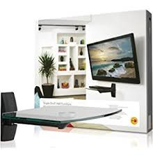 Desk For Computer And Tv Amazon Com Mount It Mi 814c Floating Wall Mounted Shelf And Tv