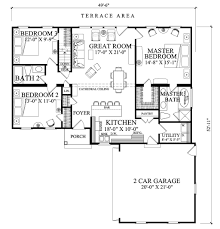 3 bedroom 2 bath 2 car garage floor plans ranch style house plan 3 beds 2 00 baths 1445 sq ft plan 137 269