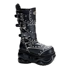 motorcycle boots online demonia charade 206 women u0027s biker boots shoes cheap demonia boots