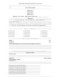 Resume Format For Office Job Free Resume Templates Resume Template Resume Templates Open Office