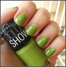 color and glitter maybelline color show nail polish in mint
