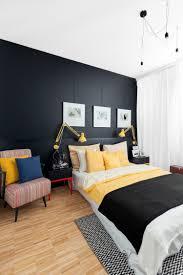 Schlafzimmer Farbe Gelb So Können Sie Mit Schwarz Als Wandfarbe Den Innenraum Veredeln
